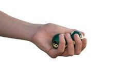 Mão com as esferas para a massagem Imagem de Stock Royalty Free