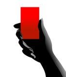 Mão com cartão Fotos de Stock