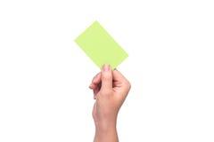 Mão com cartão de crédito Fotografia de Stock Royalty Free