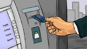 Mão com cartão de crédito Imagens de Stock Royalty Free