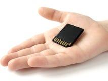 Mão com cartão de memória 1 Fotografia de Stock Royalty Free