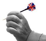Mão com dardo Imagem de Stock Royalty Free