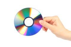 Mão com disco cd Imagens de Stock Royalty Free