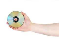 Mão com disco compacto fotos de stock royalty free
