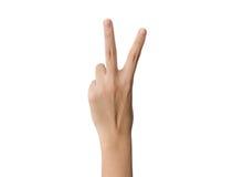 Mão com dois dedos Fotos de Stock