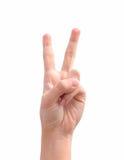 Mão com dois dedos Imagens de Stock Royalty Free