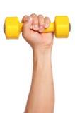 Mão com dumbbells Fotografia de Stock