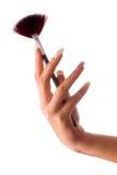 Mão com escova fotografia de stock royalty free