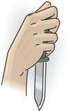 Mão com faca Foto de Stock