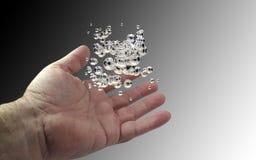 Mão com gotas Imagem de Stock