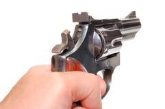 Mão com injetor Imagem de Stock