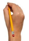 Mão com lápis Fotos de Stock Royalty Free