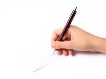 Mão com lápis Imagem de Stock