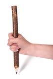 Mão com lápis fotos de stock