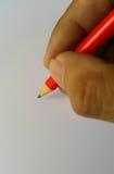 Mão com lápis Foto de Stock Royalty Free