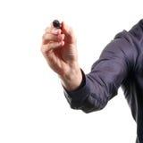 Mão com marcador preto foto de stock royalty free