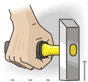 Mão com martelo Fotografia de Stock