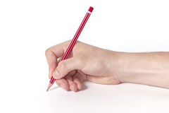 Mão com pastel Fotos de Stock Royalty Free