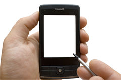 Mão com PDA Foto de Stock
