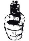 Mão com pistola Foto de Stock