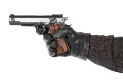 Mão com pistola fotos de stock