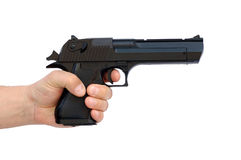 Mão com pistola Fotografia de Stock Royalty Free