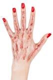 Mão com propagação dos dedos. Fotografia de Stock