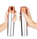 Mão com pulverizador Fotografia de Stock Royalty Free