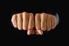 Mão com punho apertado Imagens de Stock