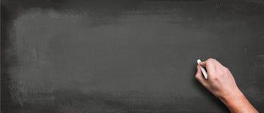 Mão com quadro-negro vazio Imagens de Stock