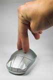 Mão com rato Fotos de Stock