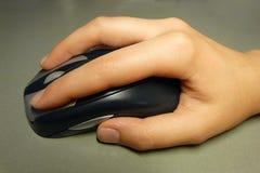 Mão com rato Imagem de Stock Royalty Free