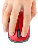 Mão com rato do computador Fotos de Stock