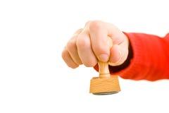 Mão com selo Foto de Stock Royalty Free