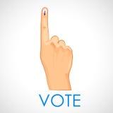Mão com sinal de votação da Índia ilustração stock