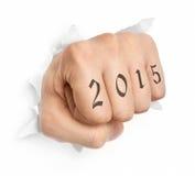 Mão com tatuagem 2015 Imagem de Stock