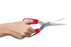 Mão com tesouras Imagens de Stock