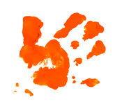 Mão com tinta Imagem de Stock