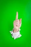 Mão com um dedo acima Imagens de Stock Royalty Free