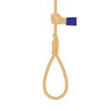 Mão com um laço da corda Foto de Stock Royalty Free
