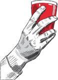 Mão com vidro do vinho Foto de Stock Royalty Free