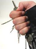 Mão completamente das chaves imagem de stock