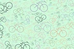 Mão conceptual abstrata esboço tirado da bicicleta Desenho, tampa, decoração & detalhes ilustração royalty free