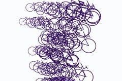 Mão conceptual abstrata esboço tirado da bicicleta Detalhes, criativo, teste padrão & papel de parede ilustração stock