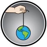 A mão controla o mundo Fotografia de Stock Royalty Free