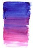 Mão cor-de-rosa e violeta da aquarela inclinação tirado Imagens de Stock Royalty Free