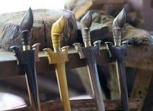 A mão crafted o machete fotografia de stock