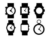 A mão cronometra ícones Foto de Stock Royalty Free