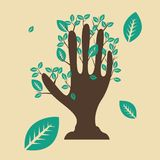 Mão da árvore Imagens de Stock