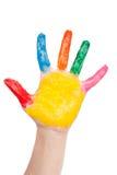 Mão da cor Imagens de Stock